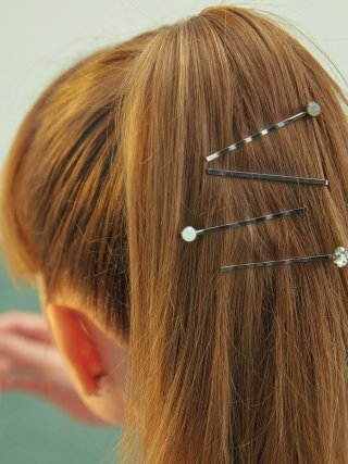 포스트루드(postlude) [4SET] MULTI STONE HAIR PIN SET (BLACK)