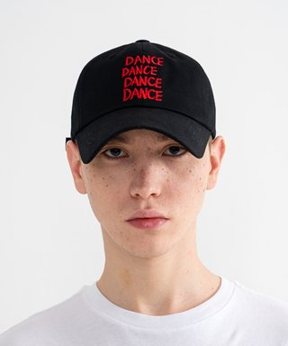 "롤링스튜디오(rollingstudios) ""DANCE"" Embroidered Ball Cap Black"