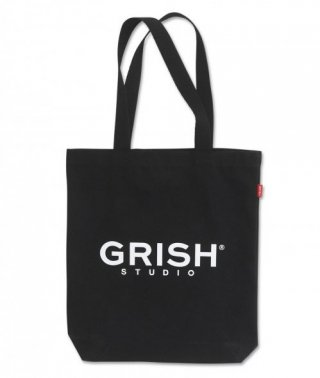 그리쉬(grish) MAIN LOGO ECO BAG BLACK