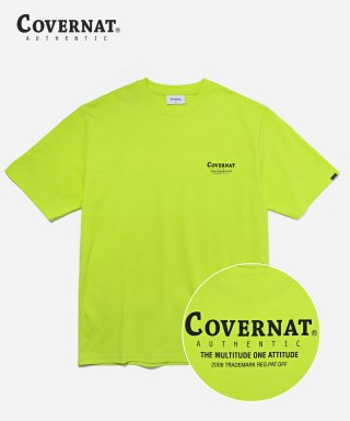 커버낫(covernat) S/S LAYOUT LOGO TEE NEON
