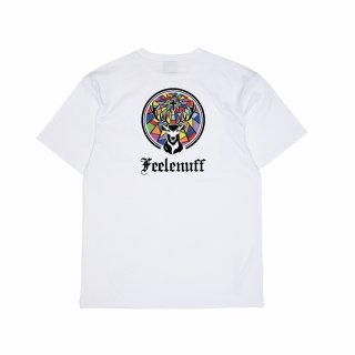 필이너프(feelenuff) [Jägermeister] STAINED GLASS STAG TEE (WHITE)