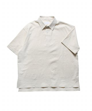 스테디 에브리웨어(steadyeverywear) Linen Half Sleeved Polo Shirts (Ecru)