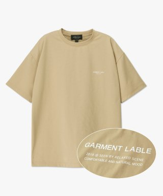 가먼트레이블(garmentlable) Cooling Short Sleeve Tee - Beige