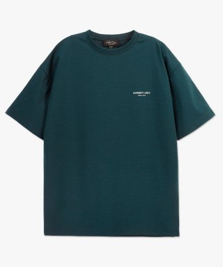 가먼트레이블(garmentlable) Cooling Short Sleeve Tee - Blue Green