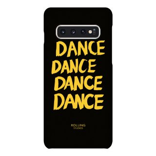 "롤링스튜디오(rollingstudios) ""DANCE"" Printed Galaxy s9 s10 Case Black"