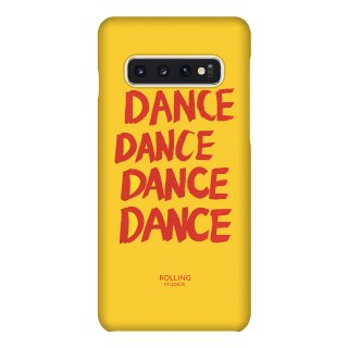 "롤링스튜디오(rollingstudios) ""DANCE"" Printed Galaxy s9 s10 Case Yellow"