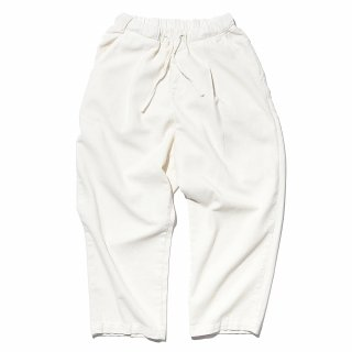 공백(gongbaek) Wide One Tuck Linen Like Pants(Garment Dyeing)_Ecru