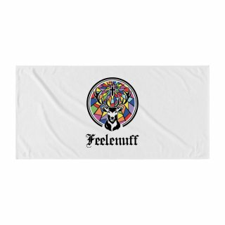 필이너프(feelenuff) [Jägermeister] STAINED GLASS STAG BEACH TOWEL (WHITE)