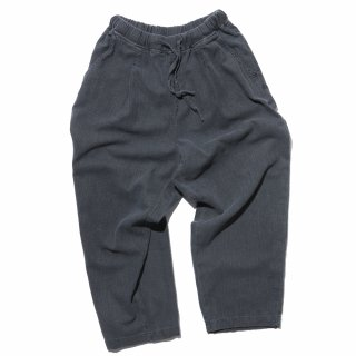 공백(gongbaek) Wide One Tuck Linen Like Pants(Garment Dyeing)_Charcoal Grey