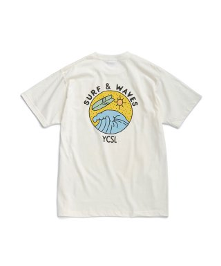 에스피오나지(espionage) Surf And Waves T-Shirt Ivory