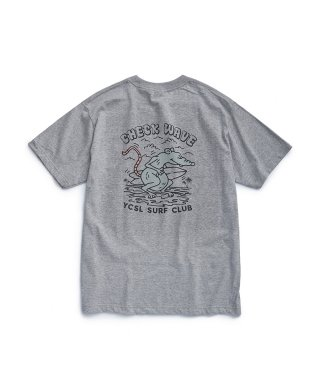 에스피오나지(espionage) Check Wave T-Shirt Grey