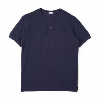 노클레임(noclaim) Round Neck Polo Shirt Navy