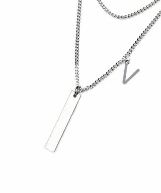 브아빗(voiebit) V828 INITIAL DOUBLE NECKLACE