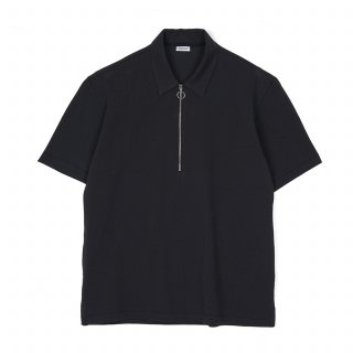 노클레임(noclaim) Zip Up Polo Shirt Black