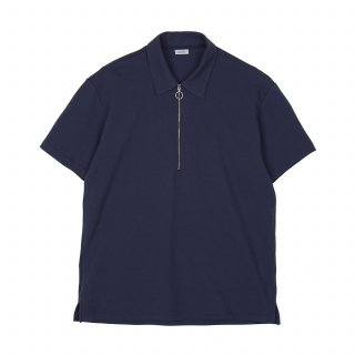 노클레임(noclaim) Zip Up Polo Shirt Navy