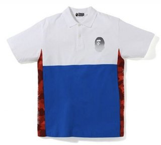 베이프(bape) COLOR BLOCK POLO