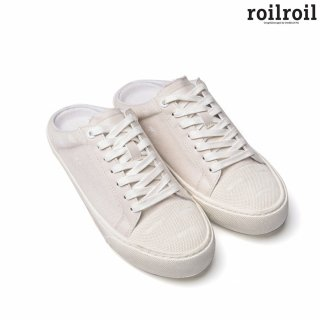 로일로일(roilroil) Destroyed Sneakers Mule - WHITE (UNISEX)