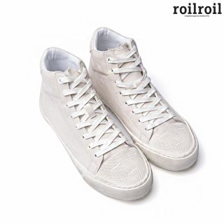 로일로일(roilroil) Destroyed Sneakers High - WHITE (UNISEX)