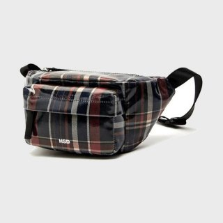 에이치에스디(hsd) CHECK WAIST BAG HABA9E415N2