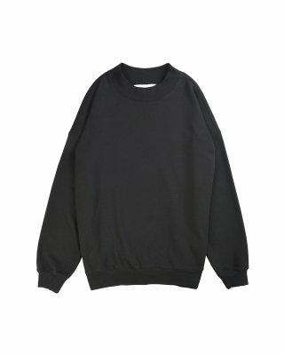 비슬로우 스탠다드(beslowstandard) 19FW OVERSIZED MOCK NECK SWEAT SHIRT BLACK