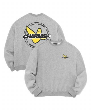 마크 곤잘레스(markgonzales) MG x CHARM`S CIRCLE CREWNECK GREY