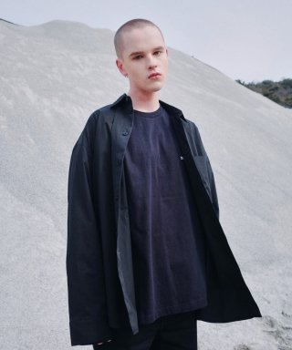 피스워커(pieceworker) Big Pocket Shirt / Oversize (Black)