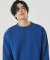 DOUBLE COTTON SWEATSHIRT(PERSIAN BLUE)