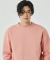 DOUBLE COTTON SWEATSHIRT(PALE PINK)