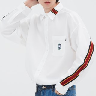 로맨틱크라운(romanticcrown) BACK LINE OVER FIT SHIRT_WHITE