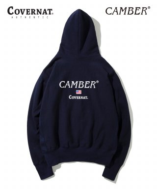 커버낫(covernat) COVERNAT X CAMBER HEAVYWEIGHT 12oz HOODIE NAVY