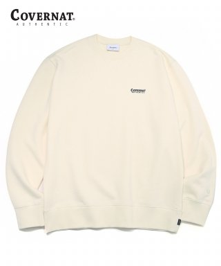 커버낫(covernat) SMALL AUTHENTIC LOGO CREWNECK IVORY