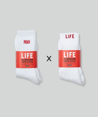 라이프 아카이브(life) LIFE CUSHION CREW SOCKS_1/1 PACK