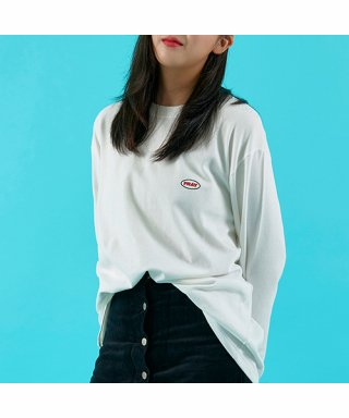 프레이(fray) OVAL LOGO LONG SLEEVE - WHITE