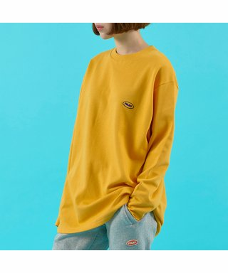 프레이(fray) OVAL LOGO LONG SLEEVE - MUSTARD