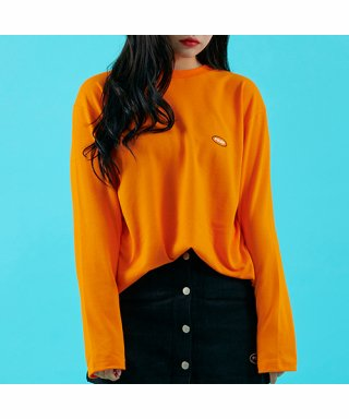 프레이(fray) OVAL LOGO LONG SLEEVE - ORANGE