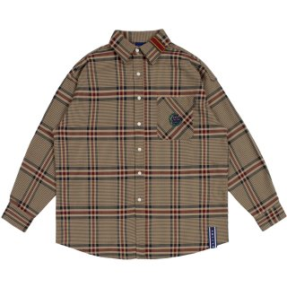 로맨틱크라운(romanticcrown) OLD CHECK WIDE SHIRT_BEIGE