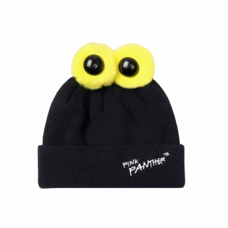 스테레오 바이널즈(stereovinyls) [FW19 Pink Panther] PP Eyes Beanie (Black)