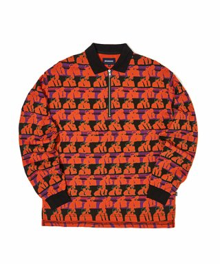 위캔더스(wkndrs) FSS POLO HALF ZIP (ORANGE)