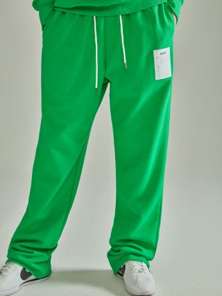 노앙(nohant) NAME LABEL SWEATPANTS GREEN