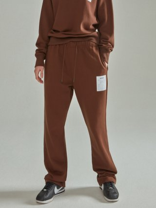 노앙(nohant) NAME LABEL SWEATPANTS BROWN