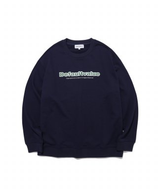 디폴트(default) BIG LINE DV LOGO CREWNECK(NAVY)