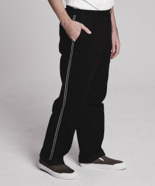 스테이지 네임(stagename) Side tape semi-wide pants_BLACK