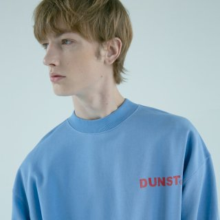 던스트(dunst) UNISEX MOCK-NECK LOGO SWEATSHIRT BLUE PURPLE UDTS9F101B2