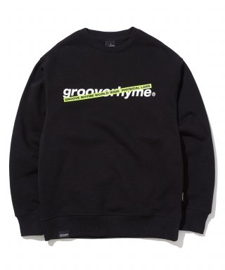 그루브라임(grooverhyme) CROSS BAR LOGO SWEAT SHIRTS (BLACK) [GMT503H43BKA]