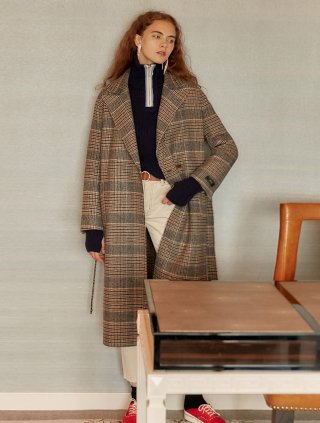 레이브(raive) Reversible Handmade Coat in check_VW9WH0490