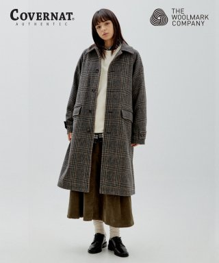 커버낫(covernat) COVERNAT X TWC GLENCHECK WOOL MAC COAT