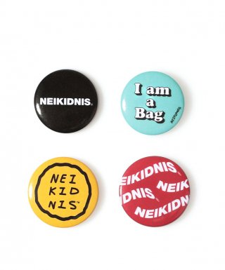 네이키드니스(neikidnis) LOGO BUTTON BADGE SET (4PCS)