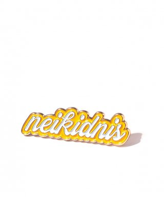 네이키드니스(neikidnis) LETTERING PIN / YELLOW