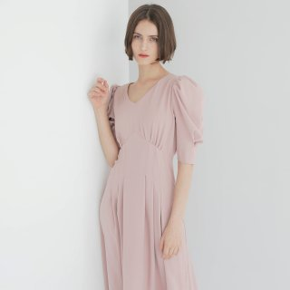 와드로브(wardrobe) TUCK SLEEVE ONE-PIECE_PINK