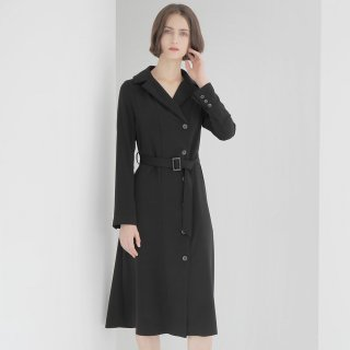 와드로브(wardrobe) TRENCH ONE-PIECE_BLACK